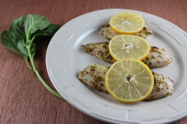 Gluten Free Pistachio Basil Tilapia