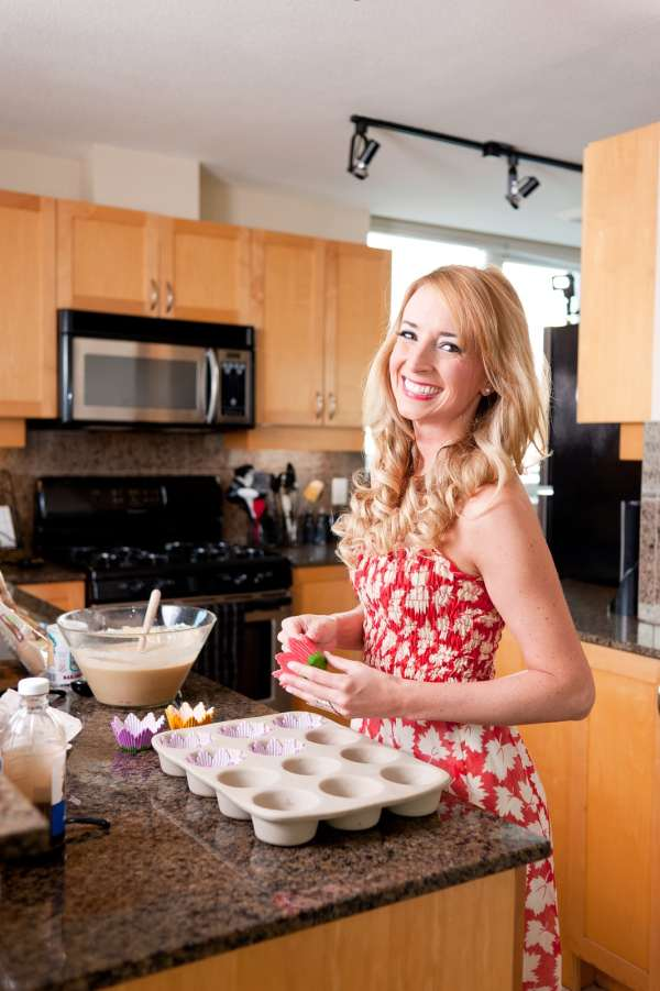 pretty girl baking, girl baking in kitchen, girls baking, photo shoot, whitney bond, little leopard book, baking in dress, pretty girl in kitchen, woman cooking in kitchen, woman baking, baking photoshoot