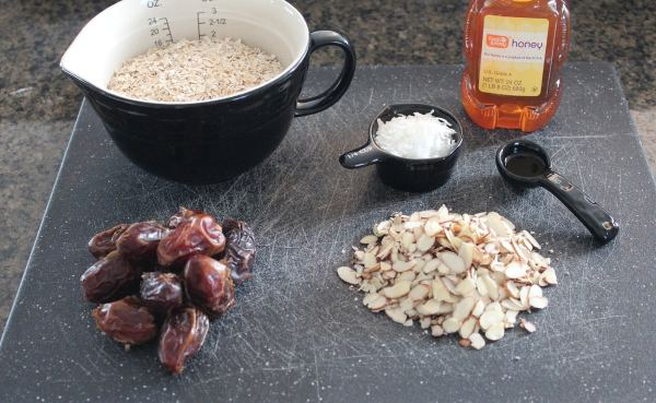 Oatmeal Date Bar Ingredients