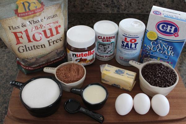Gluten Free Skillet Brownie Ingredients