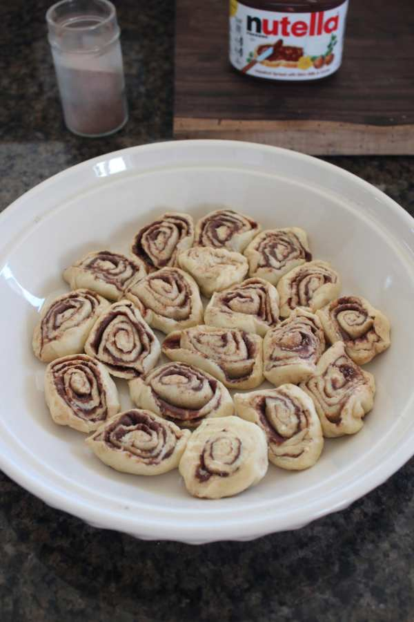 Mini Nutella Cinnamon Rolls