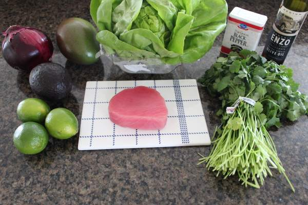 Mango Avocado Ahi Lettuce Cups Ingredients