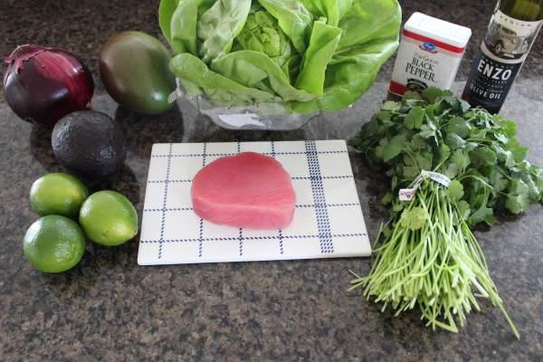 Mango Avocado Ahi Lettuce Cups Ingredients