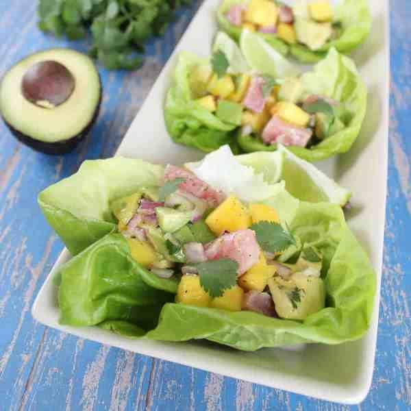Avocado Ahi Lettuce Wraps