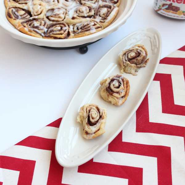 Mini Nutella Cinnamon Rolls with Icing