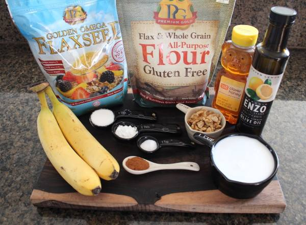 Gluten Free Banana Walnut Waffle Ingredients