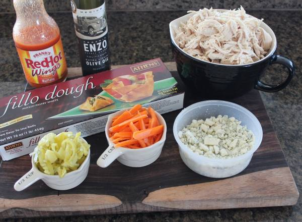 Buffalo Chicken Phyllo Roll Ingredients
