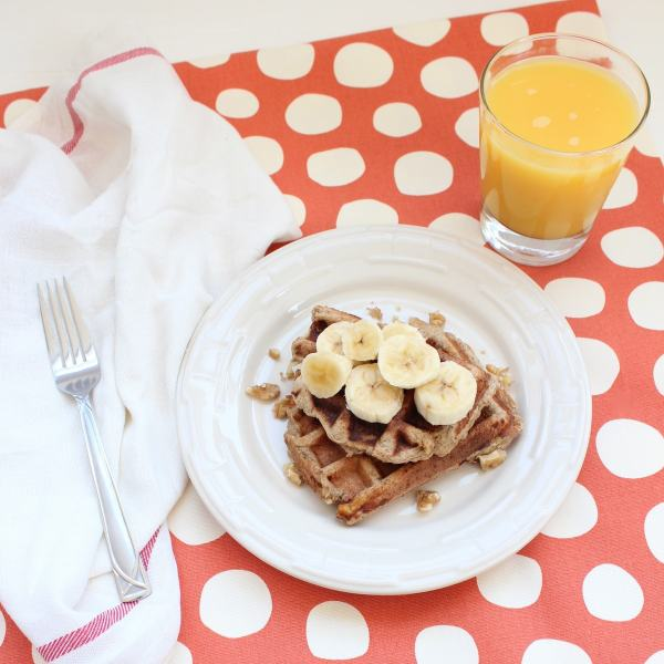 Gluten and Dairy Free Banana Waffles