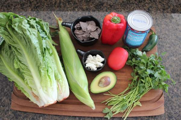 Grilled Mexican Chopped Salad Ingredients