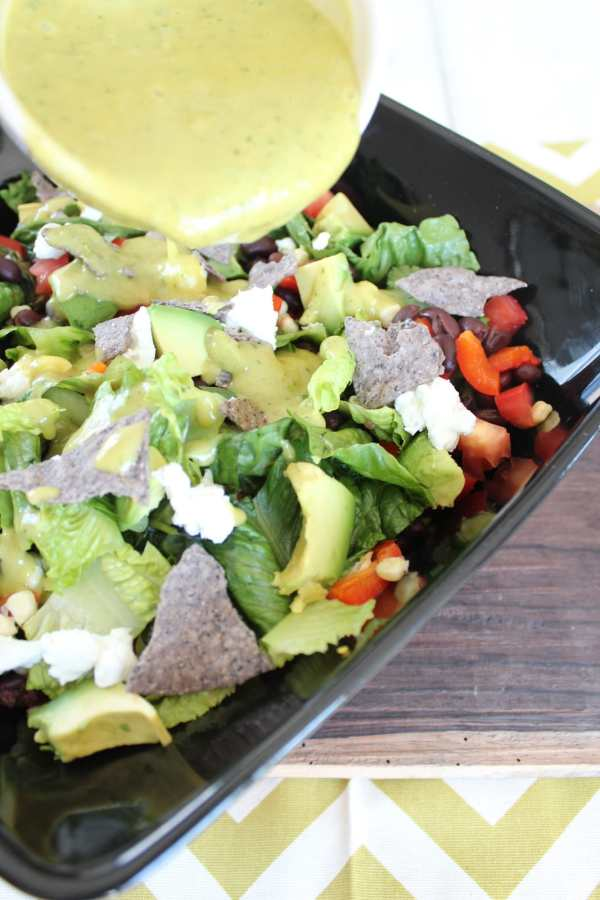 Chopped Mexican Salad with Honey Lime Dressing