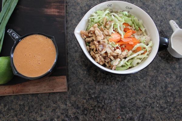 Thai Chicken Salad with Peanut Sauce