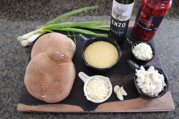 Crab Couscous Stuffed Mushroom Ingredients