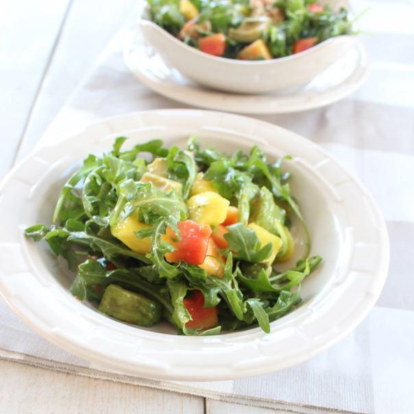 Shrimp Mango Arugula Salad