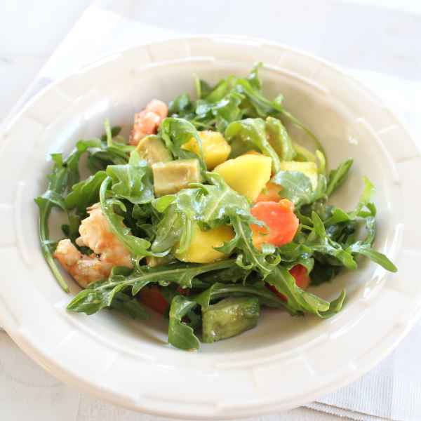 Mango Papaya Shrimp Salad