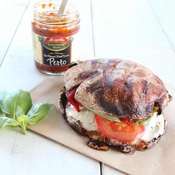 Gluten Free Grilled Portobello Mushroom Sandwich