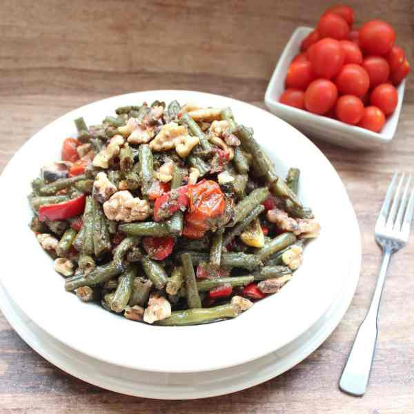 Roasted Green Bean Pesto Salad Recipe