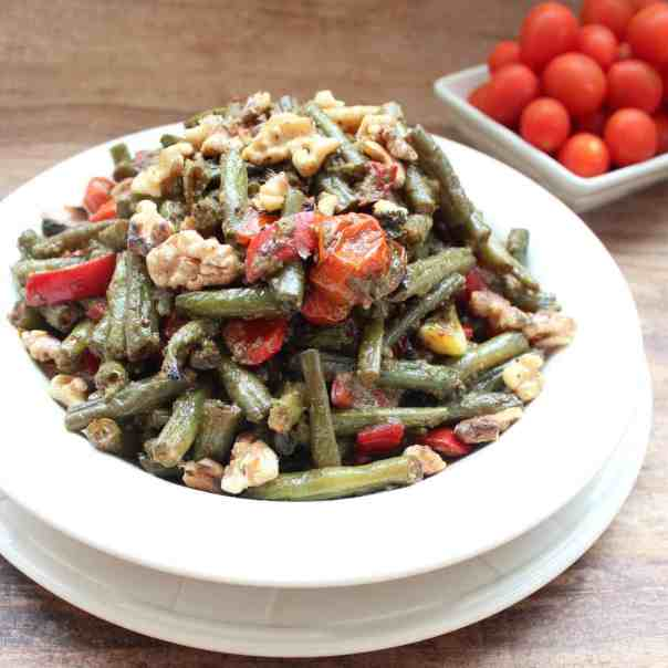 Roasted Green Bean Pesto Salad