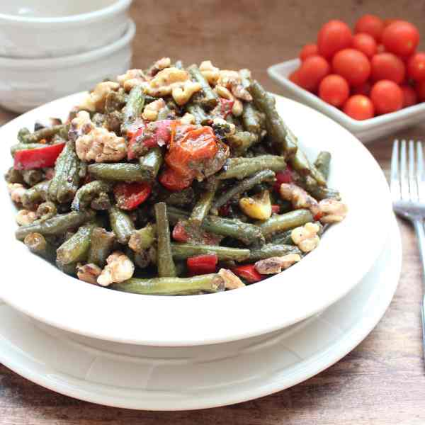 Roasted Green Bean, Tomato Salad