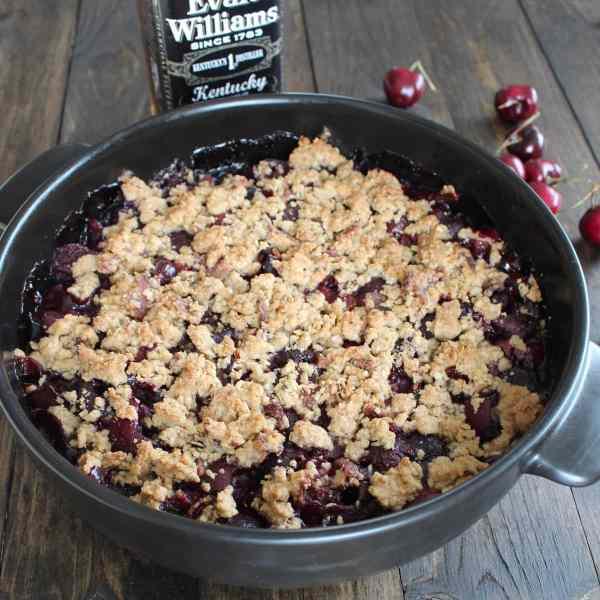 Bourbon Cherry Bacon Crumble Recipe