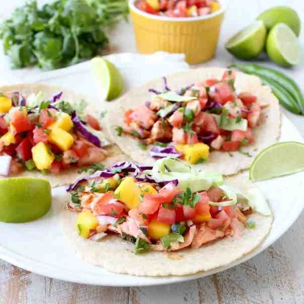Chipotle Honey Glazed Salmon Tacos