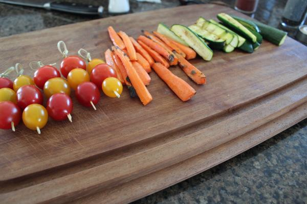 Grilled Vegetables for Dipping