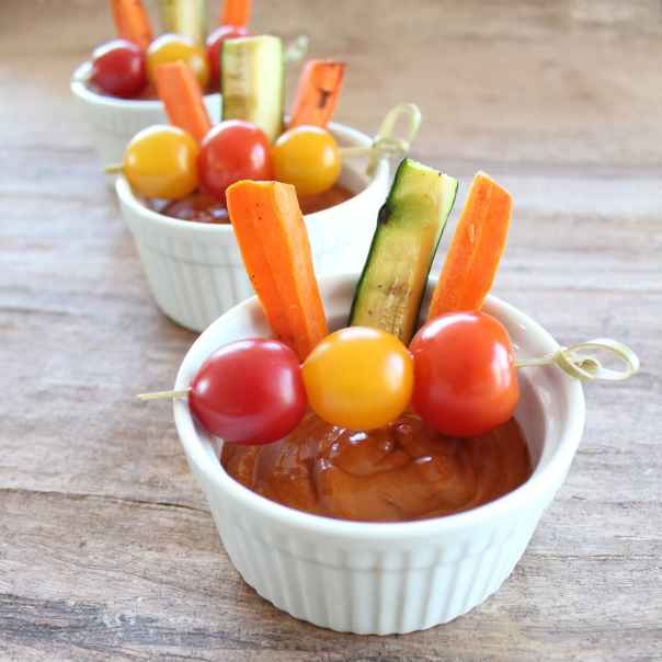 Grilled Vegetables with Ancho Chili Sauce
