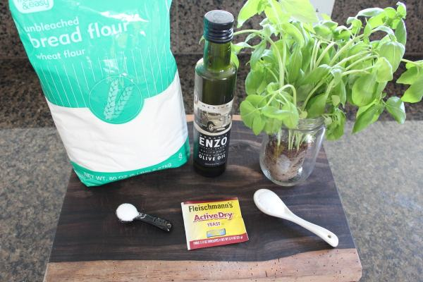 Homemade Basil Flatbread Ingredients
