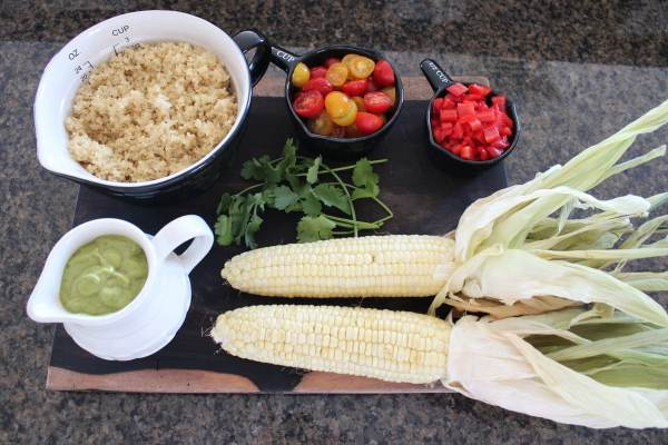 Quinoa Corn Salad Ingredients