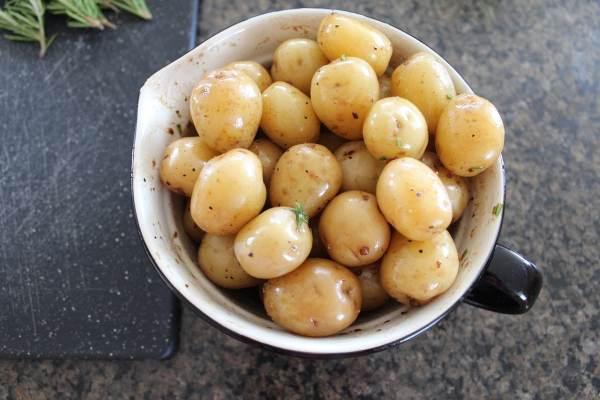 Marinated Honeygold Potatoes