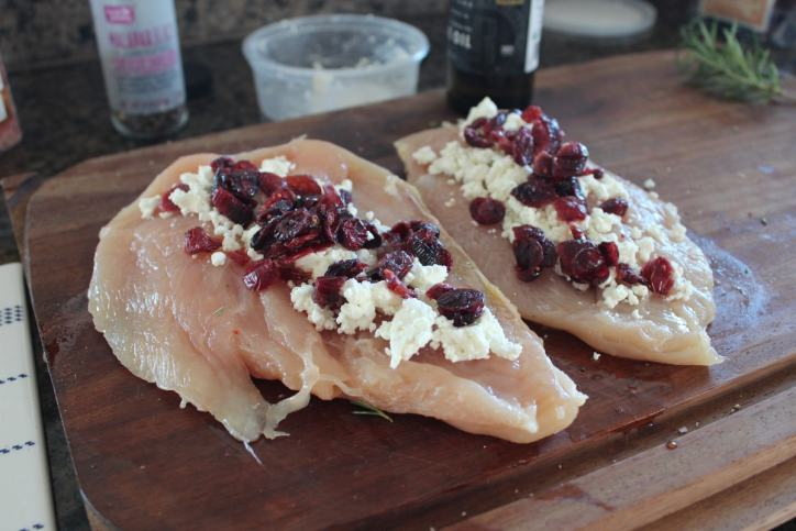Cranberry Stuffed Chicken Breasts