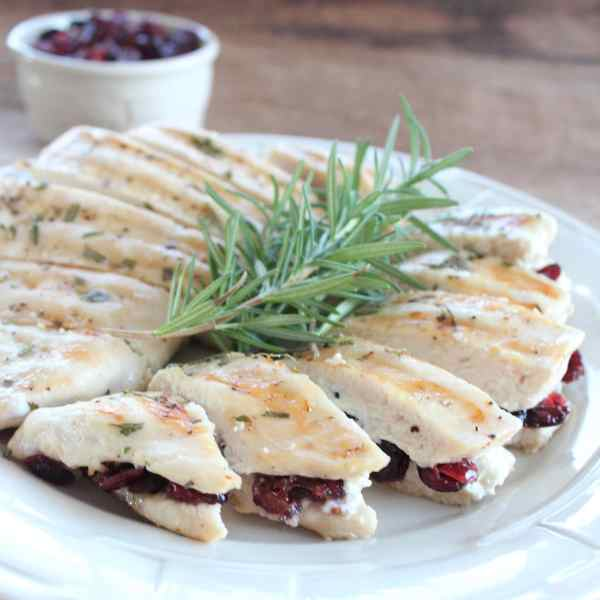 Cranberry Stuffed Rosemary Chicken