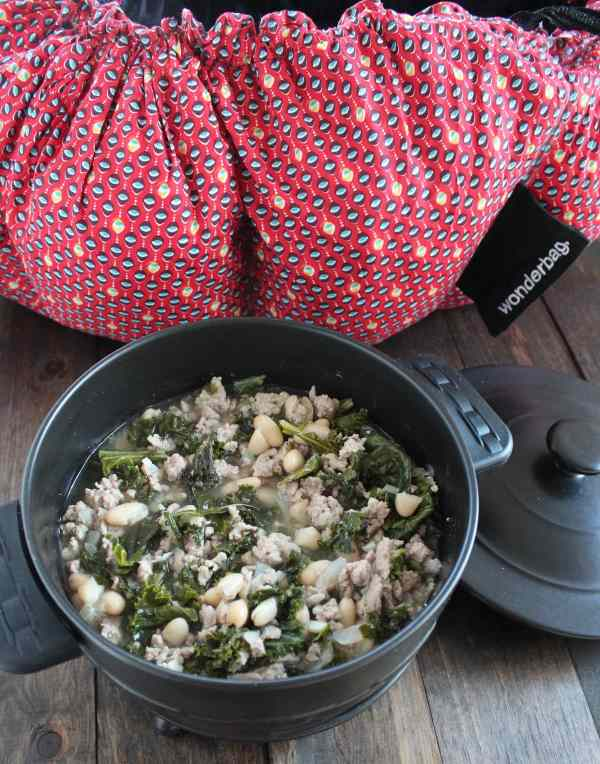 Kale Turkey Chili Cooked in Wonderbag