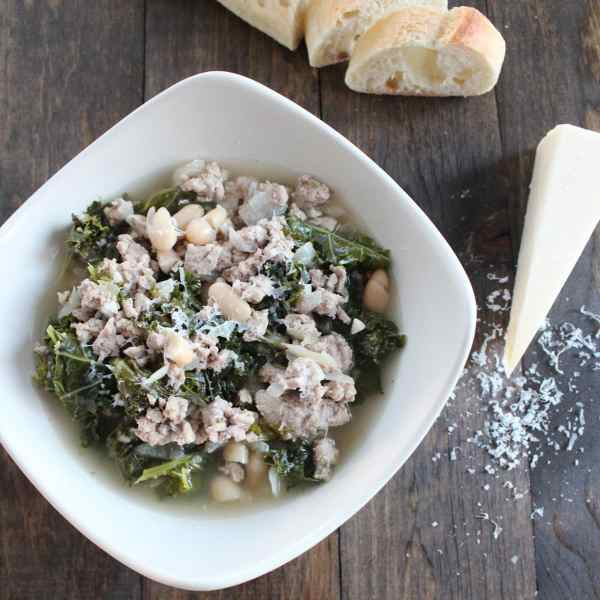 White Bean Turkey Kale Soup