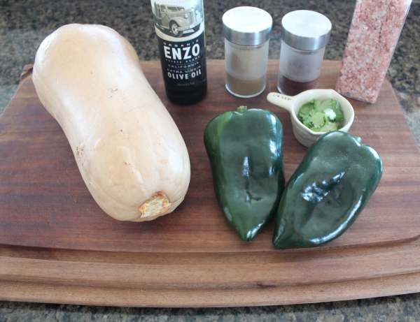 Butternut Squash Stuffed Poblano Pepper Ingredients