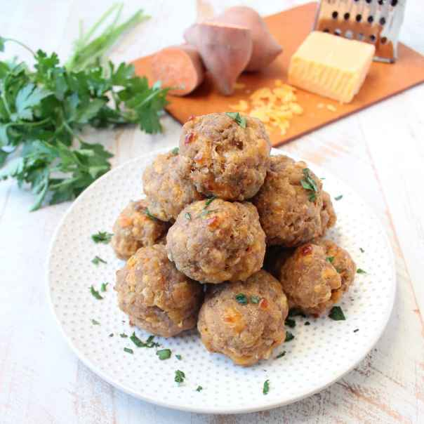 Gluten Free Sweet Potato Sausage Balls