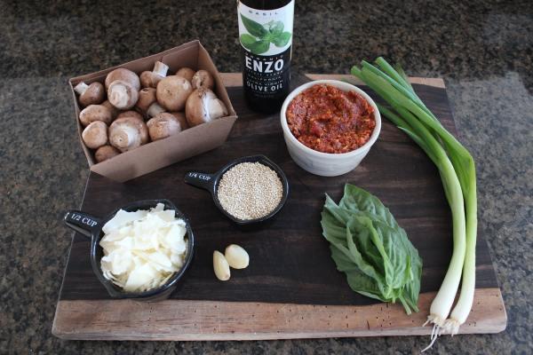 Quinoa Stuffed Mushroom Ingredients