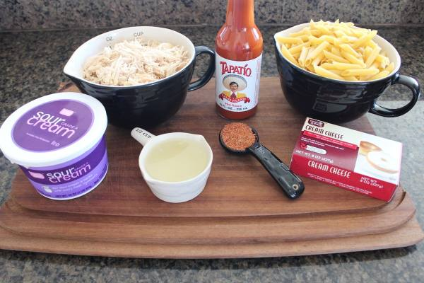 Mexican Chicken Cheesy Penne Ingredients