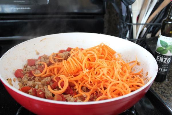 Spiralized Sweet Potato Casserole