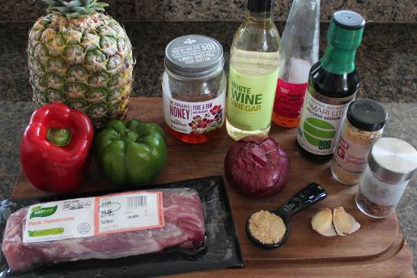 Sweet and Sour Pork Tenderloin Ingredients