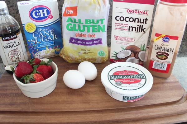 Stuffed French Toast Slider Ingredients