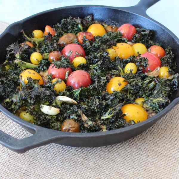 Skillet Polenta with Kale