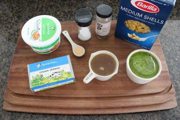 Cheesy Basil Pesto Pasta Ingredients
