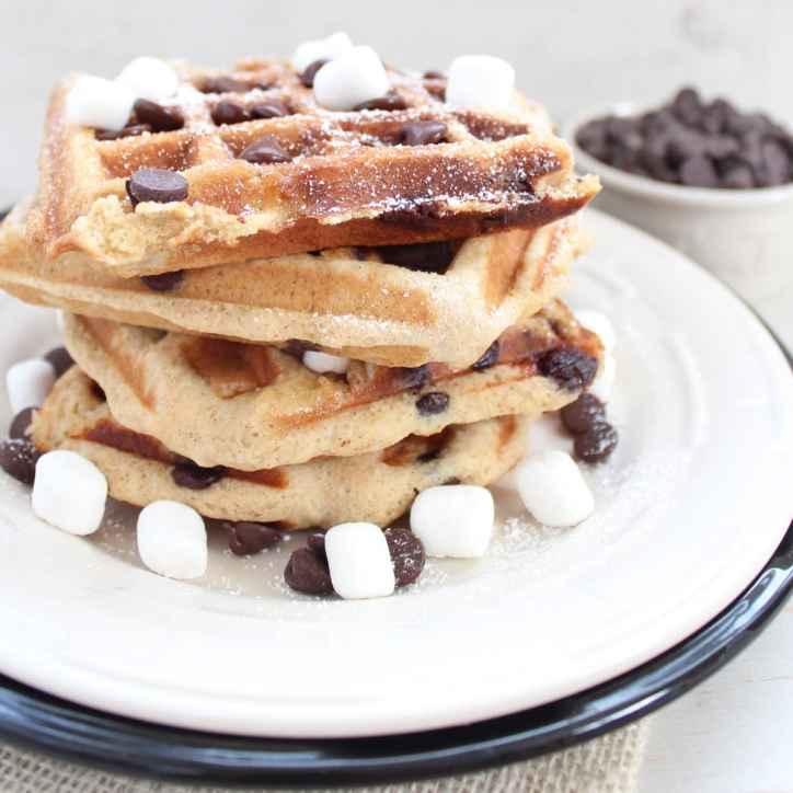 Gluten Free Smores Waffles