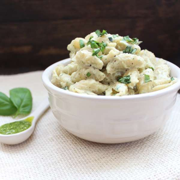 Cheesy Pesto Pasta Recipe