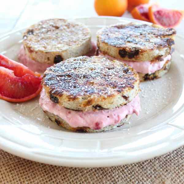 Strawberry Mascarpone Stuffed French Toast Sliders
