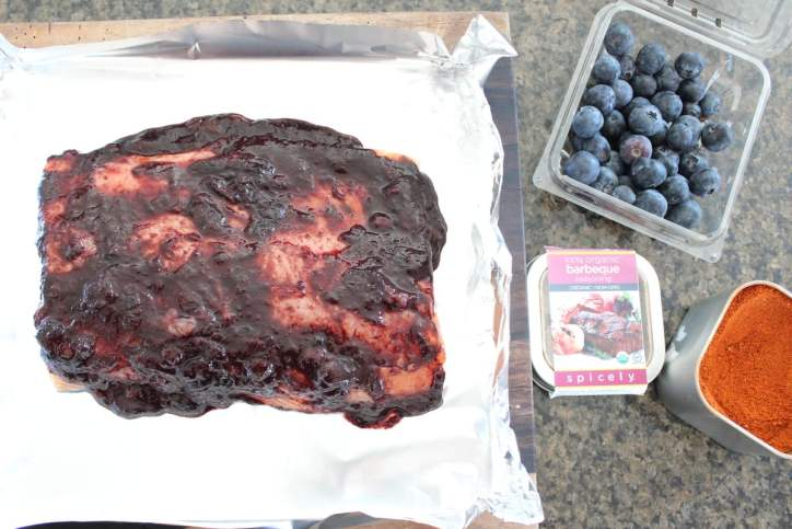 Blueberry BBQ Grilled Salmon Recipe