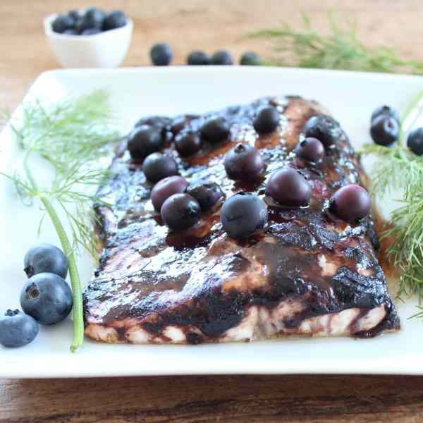 Blueberry BBQ Salmon