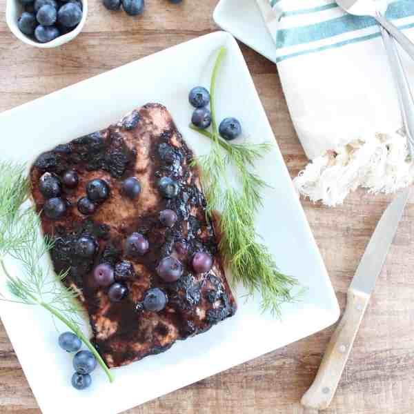 Blueberry BBQ Salmon Recipe