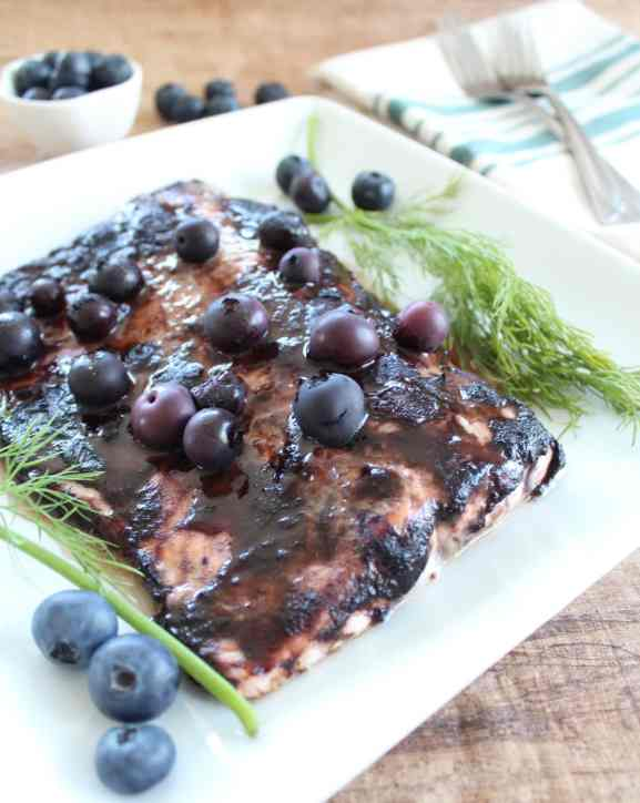 BBQ Blueberry Grilled Salmon