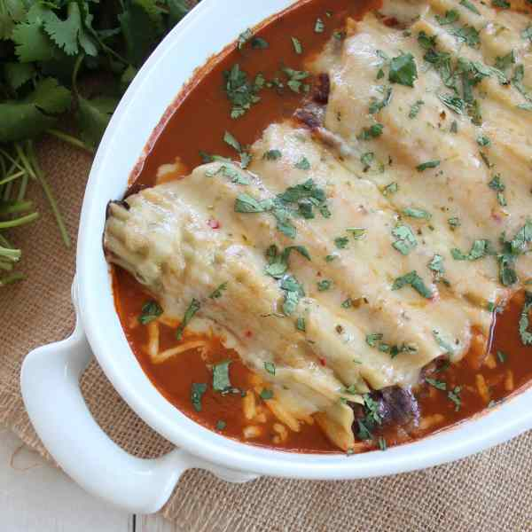 Baked Mexican Manicotti